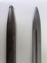 1909 ARGENTINE BAYONET WITH MATCHING # SCABBARD - 3 of 12