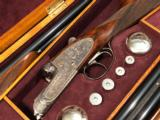 "Pedro Arrizabalaga 28/410 Two Barrel - ""Heavy Scroll"" - Huey Custom Trunk Case & Accessories - 28"" barrels - Remains Unfired"