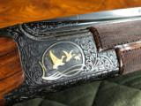 """*SALE PENDING*Browning Exhibition Superlight .410 3"""" - 28"""" Barrels - M/F - Wood, Checkering and Engraving by Ernst in Belgium (RARE RARE RARE)- 10 of 25"""