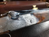 """Beretta SO """"Sparviere"""" (Sparrow) SLE - 12ga - GullWing - 30"""" - Live Pigeon & Sporting Clays Gun - Mobil Chokes - Engraved by D. Lanetti - Bulino Scen - 20 of 24"""