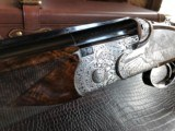 """Beretta SO """"Sparviere"""" (Sparrow) SLE - 12ga - GullWing - 30"""" - Live Pigeon & Sporting Clays Gun - Mobil Chokes - Engraved by D. Lanetti - Bulino Scen - 17 of 24"""