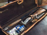 "Beretta Giubelio Jubilee 410 - PG - 28"" Barrels - 14 1/2 X 1 1/4 X 2 1/18 - 6 lbs 12 ozs - Pristine Condition - Suede Maker's Case with Accessories"