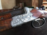 """Merkel 301-E in 16 Gauge - Ejector - SPECIAL ORDER - 29.5"""" Barrels - IC/Mod - Hand Engraved - 3 Piece Forend - DT - 14 3/4 X 1 5/8 X 2 7/8 - IC/Mod"""