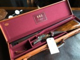 "Asprey of London - SLE Bespoke 20ga - 27"" - IC/Mod - Maker's Leather English VC Case - Deep Relief Scroll - Straight Grip - 15 5/8 X 1 3/8 X 1 7/8"