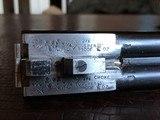 """Rosson & Son BLE 410ga - ejector gun - 2.5"""" shells - 27"""" Barrels - English Dainty Frame - M/F - 15 1/8 (F) X 14 3/8 (R) X 1 1/4 X 2 1/ - 21 of 24"""