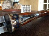 """Rosson & Son BLE 410ga - ejector gun - 2.5"""" shells - 27"""" Barrels - English Dainty Frame - M/F - 15 1/8 (F) X 14 3/8 (R) X 1 1/4 X 2 1/ - 20 of 24"""