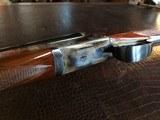 """Rosson & Son BLE 410ga - ejector gun - 2.5"""" shells - 27"""" Barrels - English Dainty Frame - M/F - 15 1/8 (F) X 14 3/8 (R) X 1 1/4 X 2 1/ - 22 of 24"""