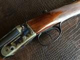 """Rosson & Son BLE 410ga - ejector gun - 2.5"""" shells - 27"""" Barrels - English Dainty Frame - M/F - 15 1/8 (F) X 14 3/8 (R) X 1 1/4 X 2 1/ - 8 of 24"""