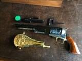 """Colt Walker 1847 - """"Sam Colt"""" .44 cal Black Powder - Never Fired - Untouched - Pristine - Indian & Cavalry Battle Scene Engraved Cylinder - 18 of 24"""