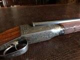 "Ithaca 4E Flues - 20ga - Ejectors - 2 3/4"" Chambers - 28"" Barrels (Steel) - ca. 1919 - 14 3/8 x 1 5/8 x 2 3/4 - 6 lbs 7 ozs - Engraved by Bill - 21 of 25"