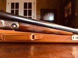 """Parker Repro DHE - 20ga - 26"""" - IC/M - DT - Straight Grip - Skeleton Buttplate - High Grade Wood - Leather Maker's Case - 9 of 25"""
