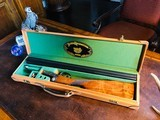 """Parker Repro DHE - 20ga - 26"""" - IC/M - DT - Straight Grip - Skeleton Buttplate - High Grade Wood - Leather Maker's Case - 1 of 25"""
