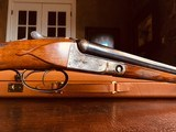 """Parker Repro DHE - 20ga - 26"""" - IC/M - DT - Straight Grip - Skeleton Buttplate - High Grade Wood - Leather Maker's Case - 19 of 25"""