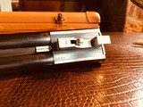 """Parker Repro DHE - 20ga - 26"""" - IC/M - DT - Straight Grip - Skeleton Buttplate - High Grade Wood - Leather Maker's Case - 11 of 25"""