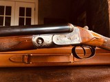 """Parker Repro DHE - 20ga - 26"""" - IC/M - DT - Straight Grip - Skeleton Buttplate - High Grade Wood - Leather Maker's Case - 17 of 25"""