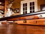 """Parker Repro DHE - 20ga - 26"""" - IC/M - DT - Straight Grip - Skeleton Buttplate - High Grade Wood - Leather Maker's Case - 12 of 25"""