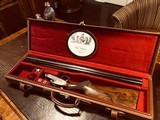 """Charles Boswell Sidelock Ejector - 20ga - 27.5"""" - IC/M - Checkered Butt - Beavertail - Single Trigger - Leather Case - Gold Inlays - Case Color - 2 of 24"""