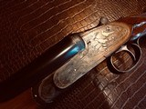 """Charles Boswell Sidelock Ejector - 20ga - 27.5"""" - IC/M - Checkered Butt - Beavertail - Single Trigger - Leather Case - Gold Inlays - Case Color - 5 of 24"""