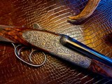"Purdey & Sons 28ga - 28"" - ca. 2002 - Small Frame Side By Side Ultra Rounded BAR - DT - 5.6 lbs - Splinter Forend - Cecile Flohimont Engraved - 22 of 25"