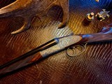 "Purdey & Sons 28ga - 28"" - ca. 2002 - Small Frame Side By Side Ultra Rounded BAR - DT - 5.6 lbs - Splinter Forend - Cecile Flohimont Engraved - 5 of 25"