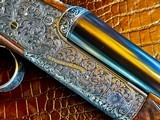 "Purdey & Sons 28ga - 28"" - ca. 2002 - Small Frame Side By Side Ultra Rounded BAR - DT - 5.6 lbs - Splinter Forend - Cecile Flohimont Engraved - 7 of 25"