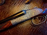 "Purdey & Sons 28ga - 28"" - ca. 2002 - Small Frame Side By Side Ultra Rounded BAR - DT - 5.6 lbs - Splinter Forend - Cecile Flohimont Engraved - 1 of 25"