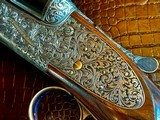 "Purdey & Sons 28ga - 28"" - ca. 2002 - Small Frame Side By Side Ultra Rounded BAR - DT - 5.6 lbs - Splinter Forend - Cecile Flohimont Engraved - 18 of 25"