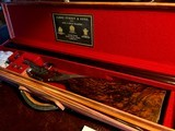 "Purdey & Sons 28ga - 28"" - ca. 2002 - Small Frame Side By Side Ultra Rounded BAR - DT - 5.6 lbs - Splinter Forend - Cecile Flohimont Engraved - 8 of 25"