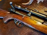 Joh. Springer Erben Custom - True Mauser Action - .257 Roberts - Double Set Tigger - Double Safety - Rare Rifle Rare Maker - Beautiful Marksman Rifle - 13 of 25