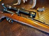 Joh. Springer Erben Custom - True Mauser Action - .257 Roberts - Double Set Tigger - Double Safety - Rare Rifle Rare Maker - Beautiful Marksman Rifle - 4 of 25