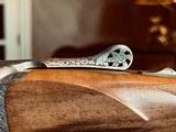 "Perazzi SXS DC20 SC3 Custom BLE - 30"" - IC/M - English Straight Grip - Galleazzi Engraved - Fine Figured Circassian Walnut - Case & Accessories - 99% - 18 of 24"