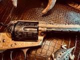 """Colt SAA 1st Generation Bisley Cole Agee Style Cattlebrand engraved - .38 Special - Colt Letter - 5 1/2"""" - Staghorn Grips - Y.O.Ranch Schreiner! - 5 of 25"""