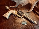 """Colt SAA 1st Generation Bisley Cole Agee Style Cattlebrand engraved - .38 Special - Colt Letter - 5 1/2"""" - Staghorn Grips - Y.O.Ranch Schreiner! - 1 of 25"""