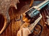 """Colt SAA 1st Generation Bisley Cole Agee Style Cattlebrand engraved - .38 Special - Colt Letter - 5 1/2"""" - Staghorn Grips - Y.O.Ranch Schreiner! - 6 of 25"""