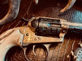 """Colt SAA 1st Generation Bisley Cole Agee Style Cattlebrand engraved - .38 Special - Colt Letter - 5 1/2"""" - Staghorn Grips - Y.O.Ranch Schreiner! - 17 of 25"""