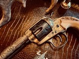 """Colt SAA 1st Generation Bisley Cole Agee Style Cattlebrand engraved - .38 Special - Colt Letter - 5 1/2"""" - Staghorn Grips - Y.O.Ranch Schreiner! - 12 of 25"""