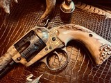 """Colt SAA 1st Generation Bisley Cole Agee Style Cattlebrand engraved - .38 Special - Colt Letter - 5 1/2"""" - Staghorn Grips - Y.O.Ranch Schreiner! - 23 of 25"""