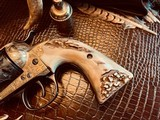 """Colt SAA 1st Generation Bisley Cole Agee Style Cattlebrand engraved - .38 Special - Colt Letter - 5 1/2"""" - Staghorn Grips - Y.O.Ranch Schreiner! - 10 of 25"""