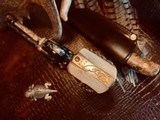 """Colt SAA 1st Generation Bisley Cole Agee Style Cattlebrand engraved - .38 Special - Colt Letter - 5 1/2"""" - Staghorn Grips - Y.O.Ranch Schreiner! - 22 of 25"""