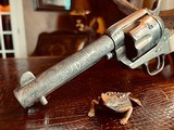 """Colt Model 1873 SAA - 45 LC - Cole Agee Style """"Cattle Brand"""" Engraved - Silver Plated - Mother of Pearl Stocks/Grips - 23 of 25"""