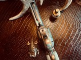 """Colt Model 1873 SAA - 45 LC - Cole Agee Style """"Cattle Brand"""" Engraved - Silver Plated - Mother of Pearl Stocks/Grips - 19 of 25"""