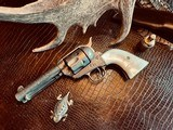 """Colt Model 1873 SAA - 45 LC - Cole Agee Style """"Cattle Brand"""" Engraved - Silver Plated - Mother of Pearl Stocks/Grips - 3 of 25"""