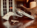 """Colt Model 1873 SAA - 45 LC - Cole Agee Style """"Cattle Brand"""" Engraved - Silver Plated - Mother of Pearl Stocks/Grips - 7 of 25"""