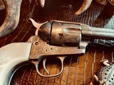 """Colt Model 1873 SAA - 45 LC - Cole Agee Style """"Cattle Brand"""" Engraved - Silver Plated - Mother of Pearl Stocks/Grips - 9 of 25"""