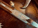 """Browning Superposed Superlight Diana - 410ga - 26.5"""" - ca. 1976 - Original Browning Box - Feathercrotch Walnut - Lewancyk Engraved Signed Twice - 10 of 25"""