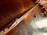 """Browning Superposed Superlight Diana - 410ga - 26.5"""" - ca. 1976 - Original Browning Box - Feathercrotch Walnut - Lewancyk Engraved Signed Twice - 17 of 25"""