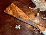 """Browning Superposed Superlight Diana - 410ga - 26.5"""" - ca. 1976 - Original Browning Box - Feathercrotch Walnut - Lewancyk Engraved Signed Twice - 3 of 25"""