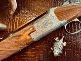"""Browning Superposed Superlight Diana - 410ga - 26.5"""" - ca. 1976 - Original Browning Box - Feathercrotch Walnut - Lewancyk Engraved Signed Twice - 2 of 25"""