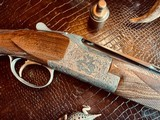 """Browning Superposed Superlight Diana - 410ga - 26.5"""" - ca. 1976 - Original Browning Box - Feathercrotch Walnut - Lewancyk Engraved Signed Twice - 4 of 25"""