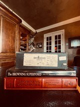 "Browning Superposed Superlight Diana - 410ga - 26.5"" - ca. 1976 - Original Browning Box - Feathercrotch Walnut - Lewancyk Engraved Signed Twice"